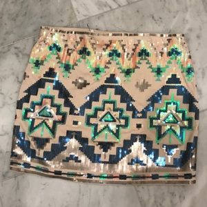 Express sequin skirt. NWT